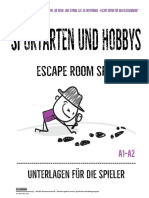 escape room - sport- alle unterlagen