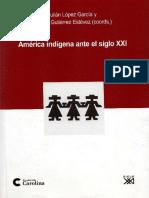 López García & M. Gutiérrez Estévez (eds.), América indígena ante el s. XXI