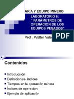 Lab6 - Parámetros de Operación de Los Equipos Pesados