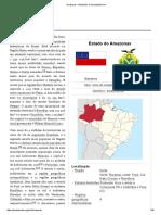 Amazonas – Estado brasileiro.