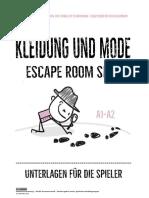 escape room -kleidung und mode- alle unterlagen 2