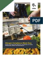 Zebra Food Safe Card Brochure A4 SP En