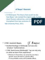 Short History of Bayes