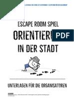escape room - orientierung in der stadt- teil ii