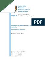Estudio de La Radiación y Balance de Radiación