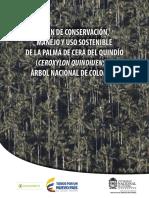 Plan de Conservacion, Manejo y Uso Sostenible de La Palma de Cera Del Quindio