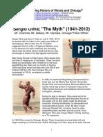 Sergio Oliva, The Myth