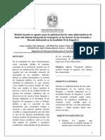 Artículo MBA Optimización de Rutas Alimentadoras