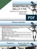 Goniometria de Tobillo y Pie