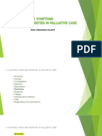 11 Symptoms Which Are Priorities in Palliative Care