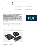 Componentes de Una Computadora - Tecnología & Informática