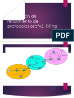 Evaluación de Rendimiento de Protocolos Ospfv3, RIPng