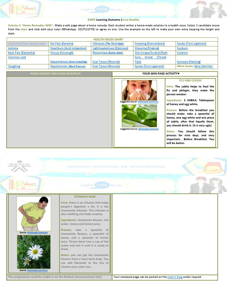 LIVING HEALTHY docx | Influenza | Clinical Medicine