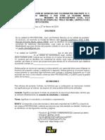 The Heist - Contrato de Servicios