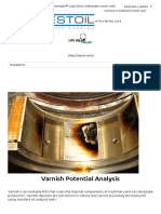 Varnish Potential Analysis - TestOilTestOil