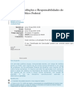 Deveres, Proibições e Responsabilidades Do Servidor Público Federal