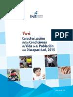 CARACTERIZACION DE LAS CONDICIONES DE VIDA DE LA POBLACION CON DISCAPACIDAD, 2015