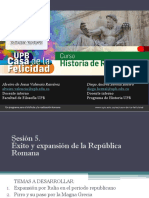 Sesión 5 Éxito y expansión de la República Romana