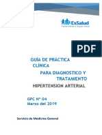 Guía de Práctica Clínica Para El Diagnóstico y Tratamiento de La Hipertension Arterial