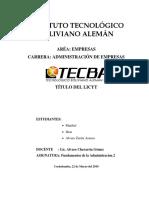 Licyt Direccion TECBA