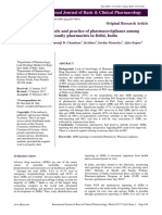Knowledge, Attitude and Practice of Pharmacovigilance Among Community Pharmacists in Delhi, India
