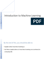W6 Introduction to Machine Learning Course Slides