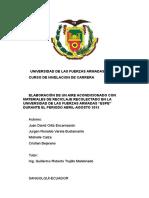ELABORACIÓN DE UN AIRE ACONDICIONADO CON MATERIALES DE RECICLAJE