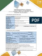 Guía de Actividades y Rúbrica de Evaluación Del Curso Tarea 2 Desarrollo Caso de Estudio 1