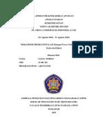 395031587 Laporan Praktek Kerja Lapangan Pt Ccsi Surabaya