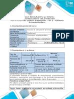 Guía de actividades y rúbrica de evaluación-Fase 1- Mi historia con la actividad física