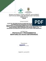Protocolo Aguas Subterraneas