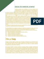 Conceptos Básicos de Medicina Oriental