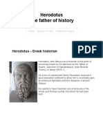 Herodotus Greek Historian Father of History