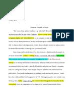 literary analysis of dystopian novel