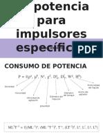 Correlaciones de Potencia Para Impulsores Específicos