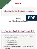 Representación de Números Enteros Clase3