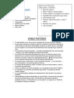 Vino Patero Oral Proyect