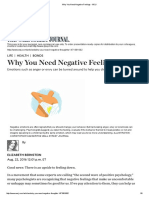 Why You Need Negative Feelings - WSJ