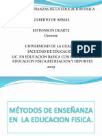Metodos de Enseanza en Laeducacionfisica