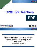 RPMS for teachers