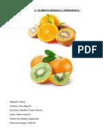 Trabajo de alimento orgánicos y trangenicos