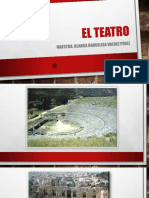 Presentación de la evolución del teatro