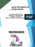 Tratamiento Medico de Miastenia Gravis Ppt