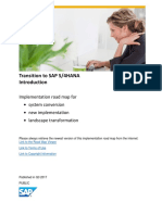 Transition to SAP S/4HANA
