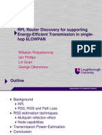 RPL Router Discovery for supporting Energy-Efficient Transmission in single-hop 6LOWPAN