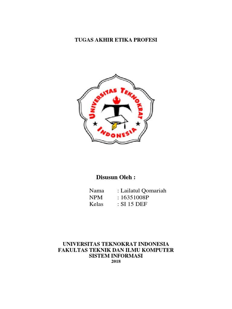 Cover Tugas Akhir Etika Profesi 1