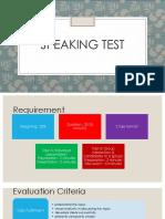 Speaking Test PPT