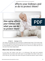 How Aging Affects Your Kidneys and What You Can Do to Protect Them