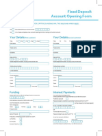 Fixed Deposit Account Opening Form