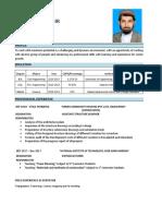 Muhammad Uzair CV